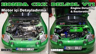 Honda DELSOL Vtec - How to SUPER CLEAN your Engine Bay