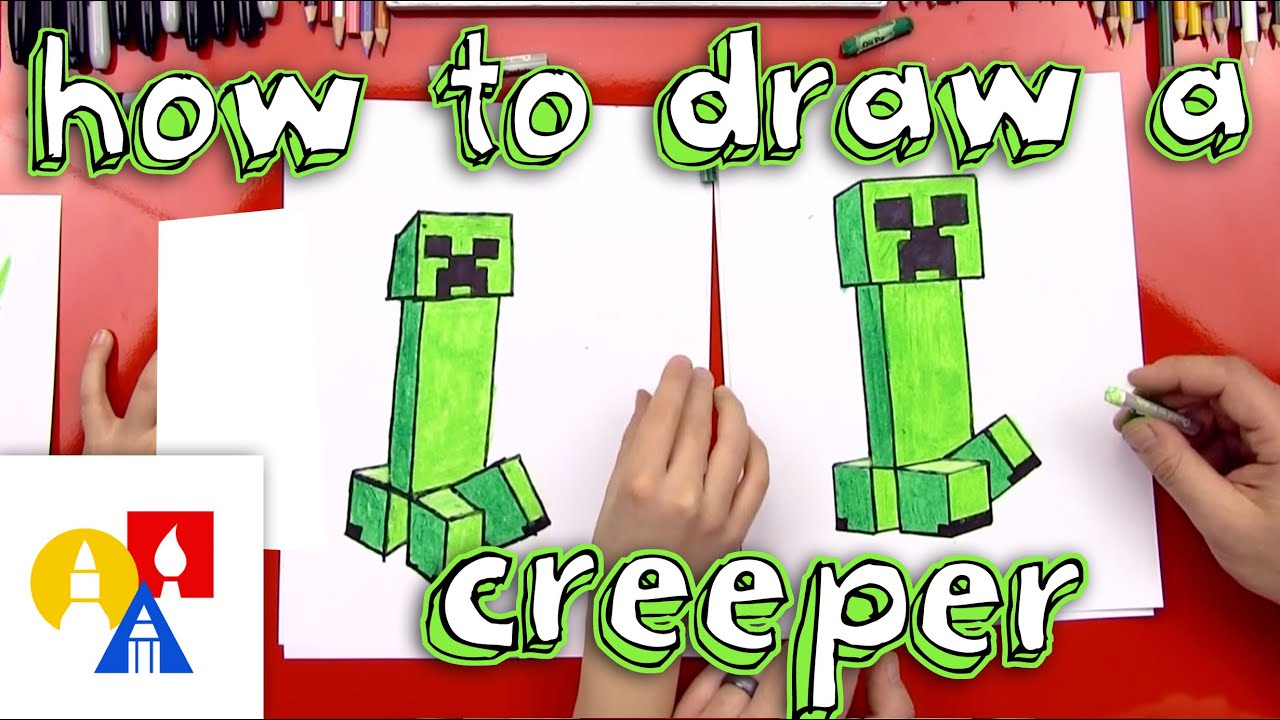 Uncategorized Art Pictures For Kids To Draw how to draw a creeper new youtube
