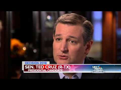 Ted Cruz Speaks with Meet The Press's Chuck Todd