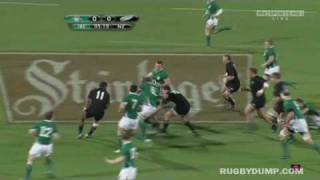 Tony Buckley big tackle on Richie McCaw