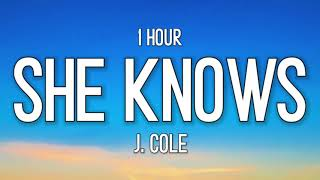 """j. cole - she knows [1 Hour] """"i am so much happier now that I'm dead"""" [tiktok song]"""