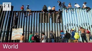 Migrant caravan reaches US border