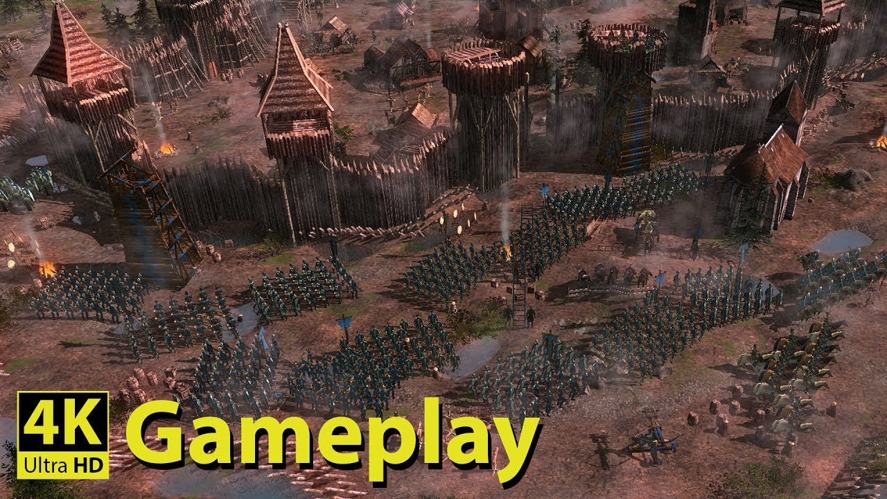 Medieval Kingdom Wars 4k Gameplay New Medieval Real Time Strategy Game Youtube