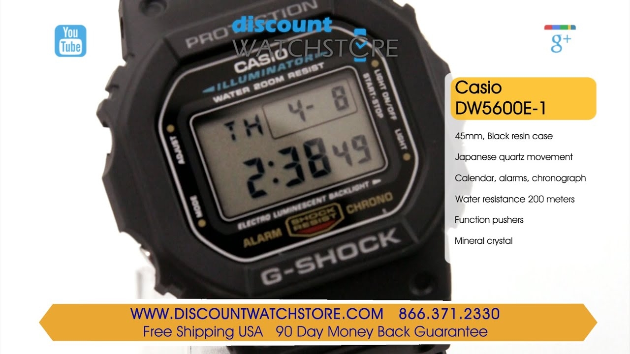 casio dw5600e 1 men s g shock digital black resin 200m wr dive casio dw5600e 1 men s g shock digital black resin 200m wr dive watch review video