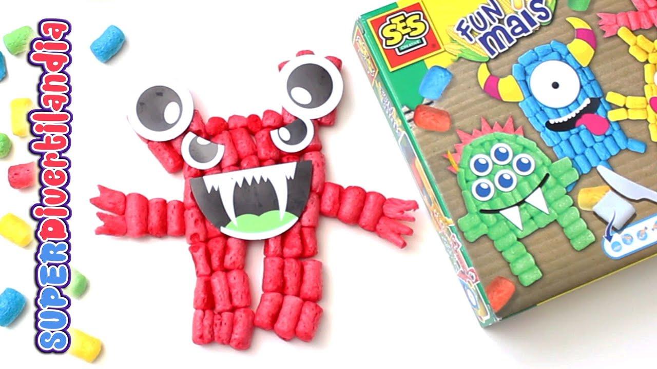 Monstruos fun mais juguete de manualidades con gusanitos - Como se hace manualidades ...