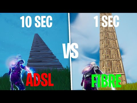 ADSL VS FIBRE OPTIQUE SUR FORTNITE BATTLE ROYALE ! (La diffé