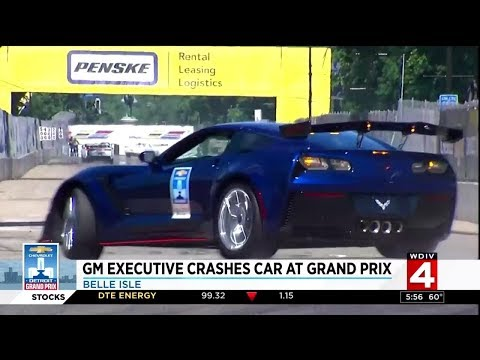 2019 Corvette ZR1 Pace Car Crashed By GM Executive At Indy Race