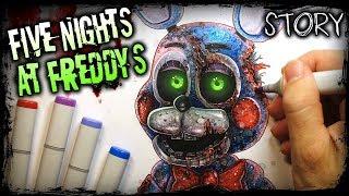 🐰 Five Nights at Freddy's (FNAF) STORY Creepypasta + Drawing (Pt.3)