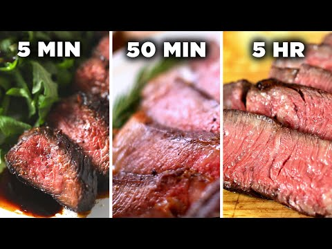 5-Minute Vs. 50-Minute Vs. 5-Hour Steak  Tasty