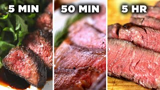 Download 5-Minute Vs. 50-Minute Vs. 5-Hour Steak • Tasty Mp3 and Videos