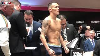 LEEDS WEIGH-IN, JOSH WARRINGTON 3RD WORLD TITLE DEFENCE, PLUS ZELFA BARRETT, LYNDON ARTHUR