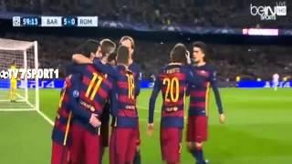 اهداف مباراة برشلونة 6-1 روما تعليق رؤوف خليف