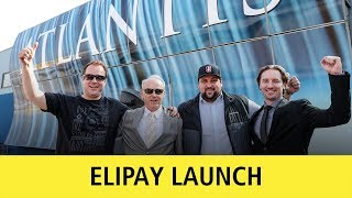The first Elipay cryptocurrency transaction in an offline store