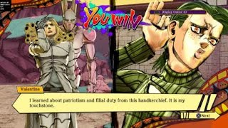 (1v2)Clapping Perty & Rene in JJBA:EoH as Valentine