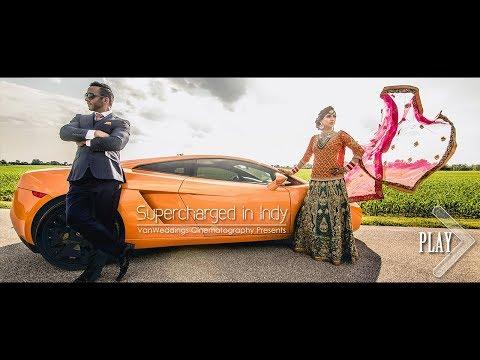 Lamborghini Supercar Indian Wedding, Indianapolis, Indiana