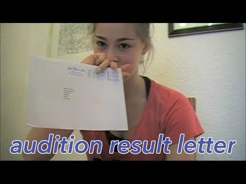 Audition result letter opening  -Dance School