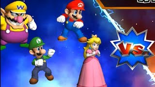 Mario Party 9 - Boss Rush - Peach & Mario vs Wario & Luigi | Cartoons Mee