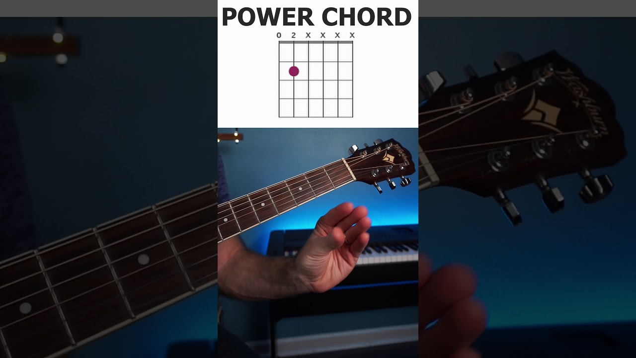 The most important power chord on guitar open E power chord shape / easy  tutorial shorts