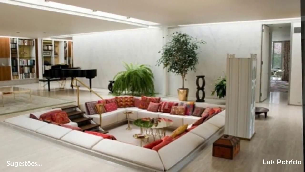 Sala De Estar Luxo ~ SALAS DE ESTAR Simples Luxo  YouTube