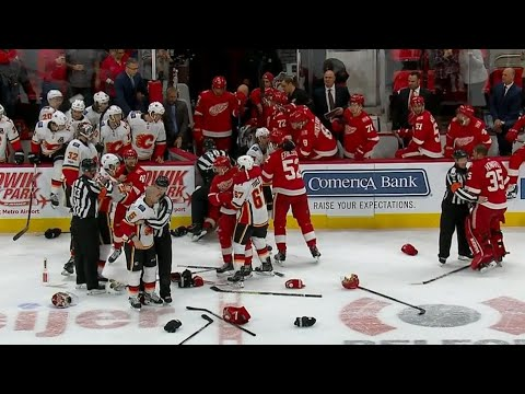 Flames & Red Wings brawl will lead to severe punishment from the league