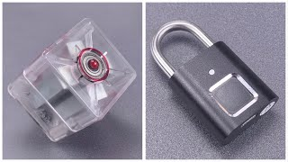 [1145] SPINNING MAGNETS Open Fingerprint Padlock!