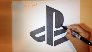 How to Draw the PlayStation Logo | Logo Drawing