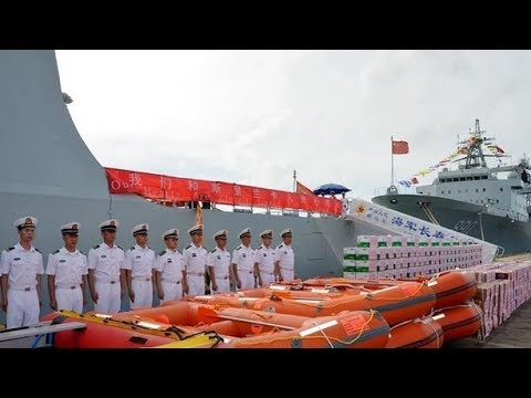Chinese naval ships arrive in Sri Lanka to assist in flood relief operations