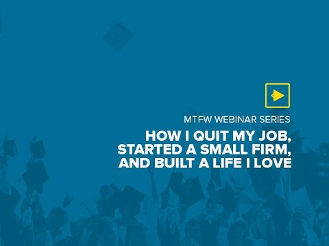 How I Quit My Job, Started a Small Firm, and Built a Life I Love