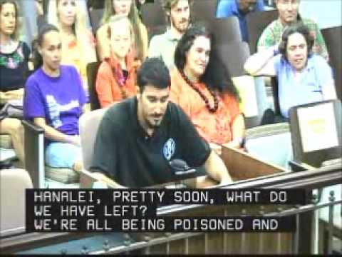 Dustin Barca Testifies Kauai County Council Sept  9, 2013