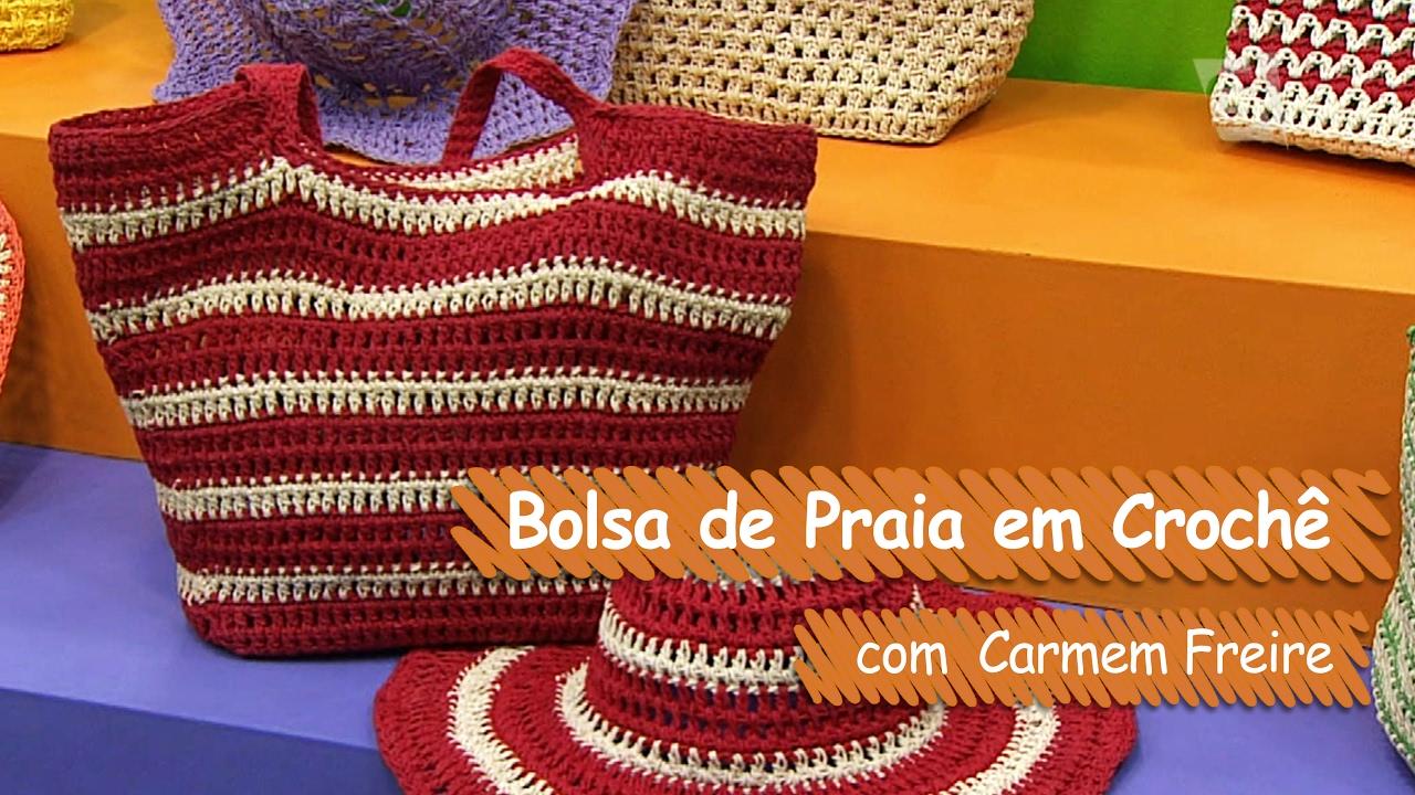 Loja Artesanato Rio De Janeiro ~ Bolsa de Praia em Croch u00ea Carmem Freire Vitrine do