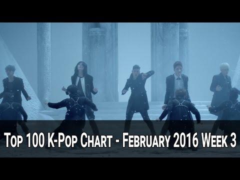 TOP 100 KPOP SONGS CHART - FEBRUARY 2016 WEEK 3