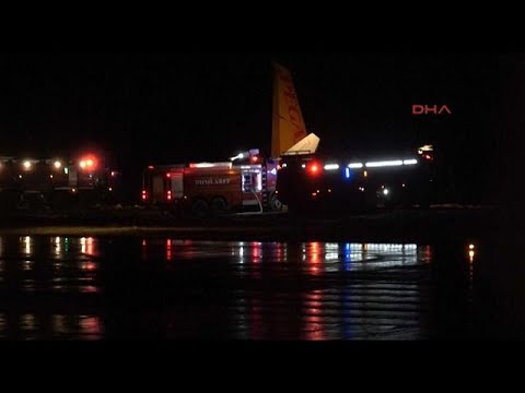 Turkey: plane overruns runway
