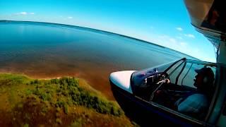 GoPro Airplane ride (Searey) with EMERGENCY grass landing!