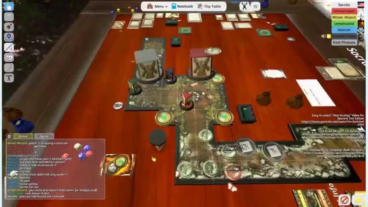 descent 2.0 (tabletop simulator) stream 160110 - youtube