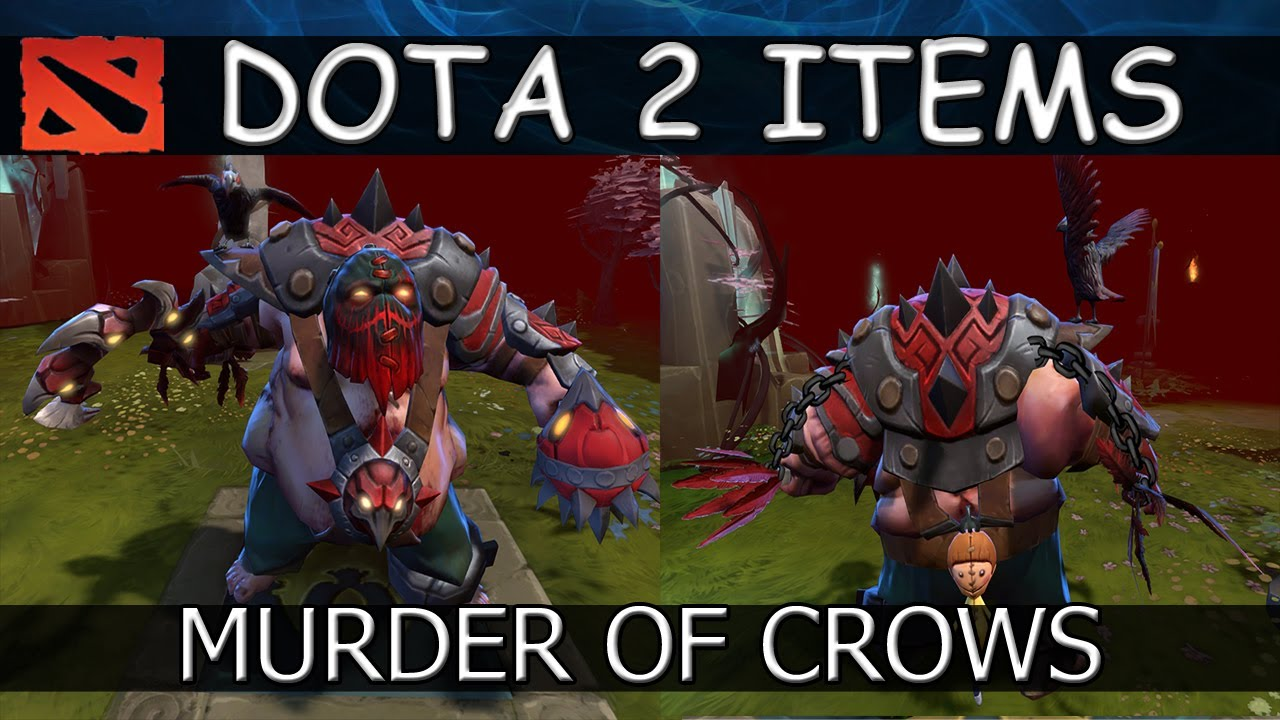 Dota 2 Items Pudge Murder Of Crows Set By Dendi Review
