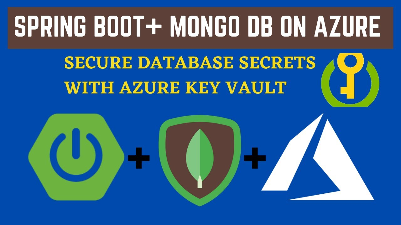 Build and Deploy Spring Boot with Mongo DB App on Azure | Secure DB secrets with key vaults