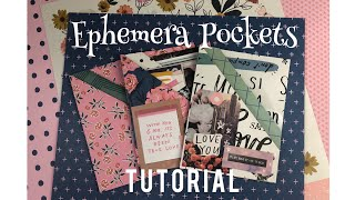 "★ Ephemera Pockets ★ TUTORIAL | ""Use Your Paper"" Series Idea #7"