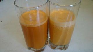 Морковный сок! ДВА рецепта из моркови домашнего овощного сока!