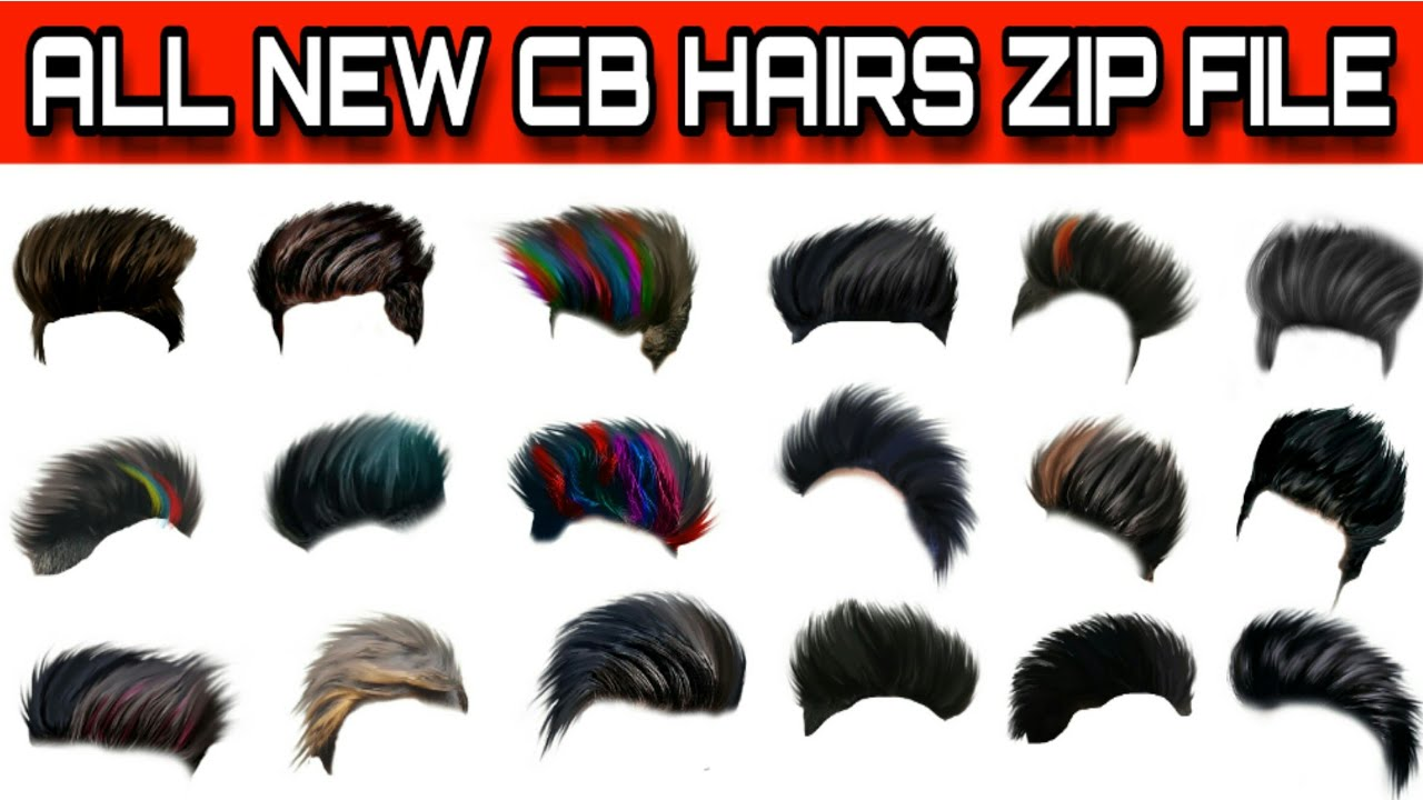 all new cb hair png zip file || download all new cb hair png zip