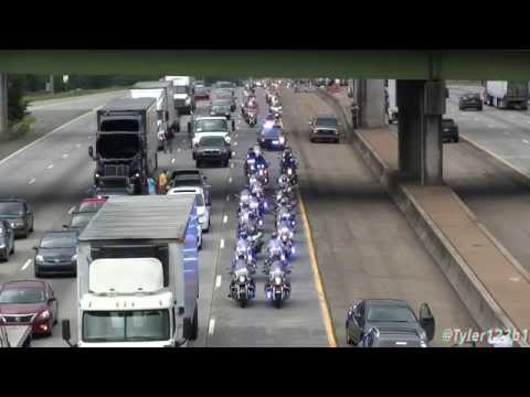 "(HD) Lance Cpl. Squire ""Skip"" Wells  procession on Interstate 75 from airport"