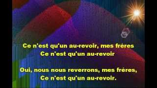 CHANT DES ADIEUX - Graphics Enhanced Karaoke of 'Auld Lang Syne' in French
