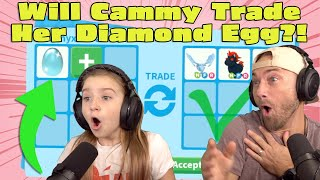 Cammy Claims Her DIAMOND EGG!! Will She TRADE It or OPEN It?! Roblox Adopt Me!