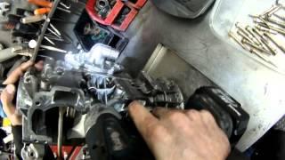 Rotax 600cc twin step 7 , étape 7 démontage de la base