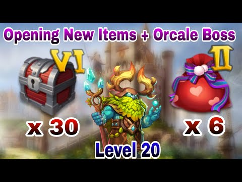 Opening Castle Chest VI And Valentine's Bag II | Oracle Warden With Flame Gaurd | Castle Clash