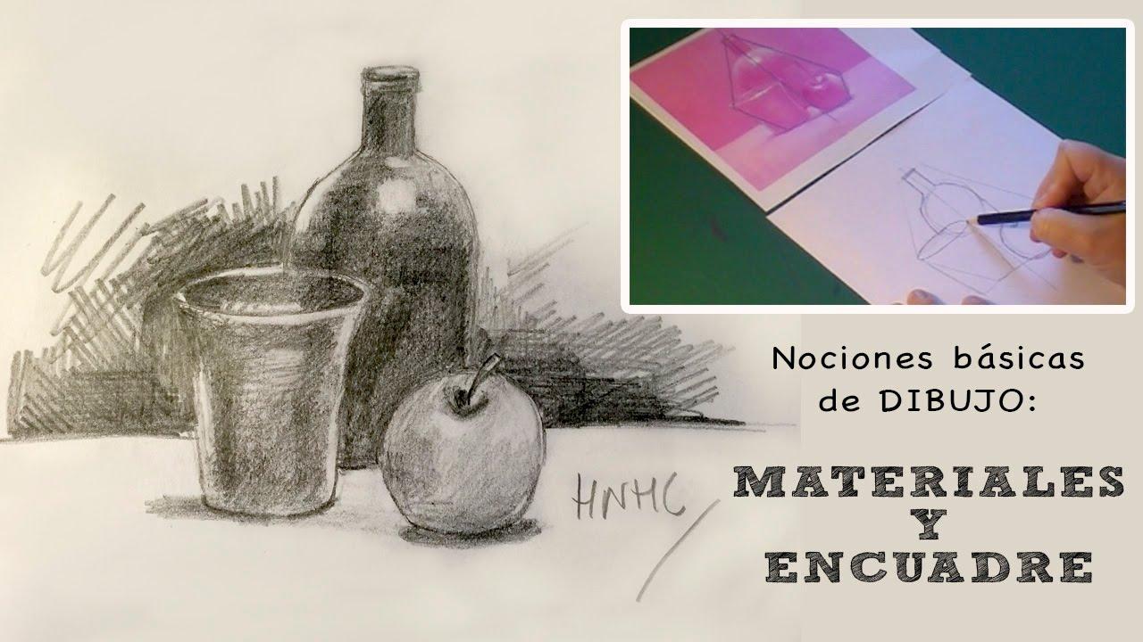 Nociones básicas de dibujo: Materiales y encuadre - YouTube