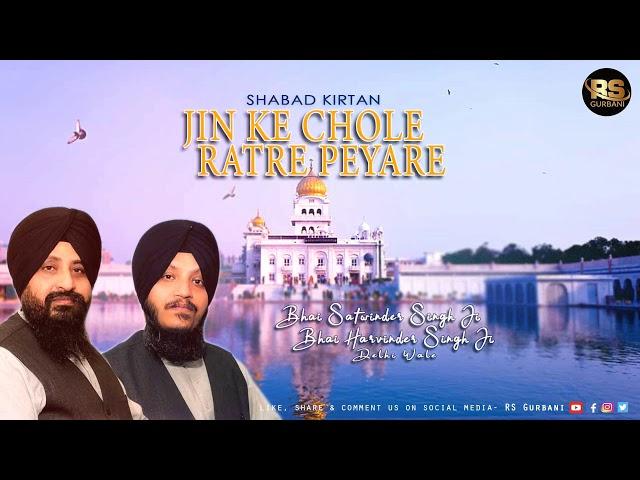 Jin Ke Chole Ratre Peyare | Shabad Kirtan | Bhai Satwinder Singh JI Delhi Wale