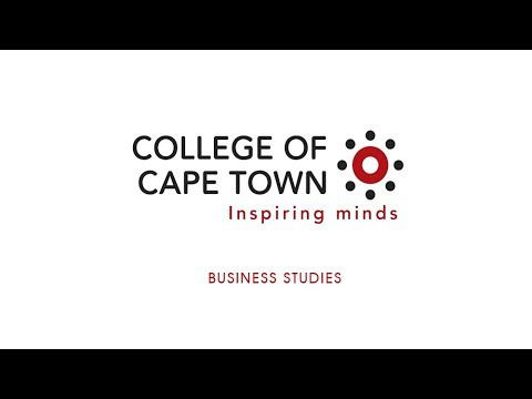 Business Studies COLLEGE OF CAPE TOWN