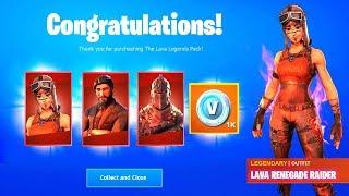 LAVA LEGENDS PACK FREE Fortnite Battle Royale (How to get Lava Legends Pack for Free)