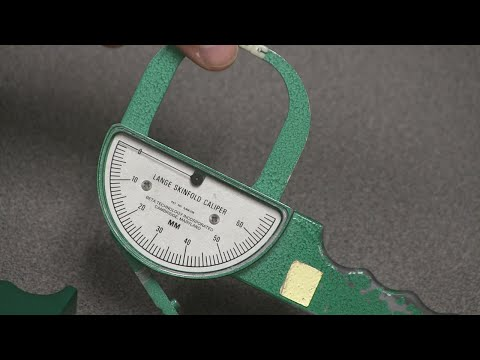 How to perform a 7-site skinfold body fat measurement on a male