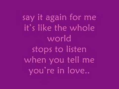 Say It Again - Marie Digby [song && lyrics]